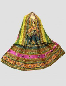 Multilayered Afghan Kuchi Dress for Nikkah