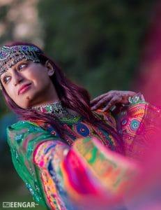 Green & Purple Afghani Dress