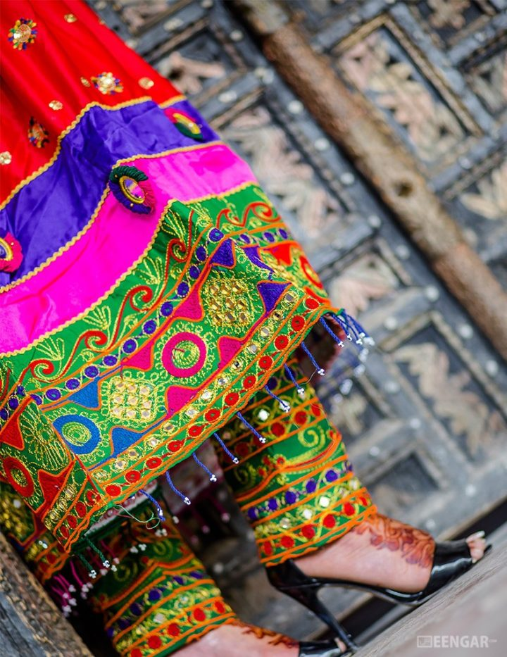 Red Afghani Frock