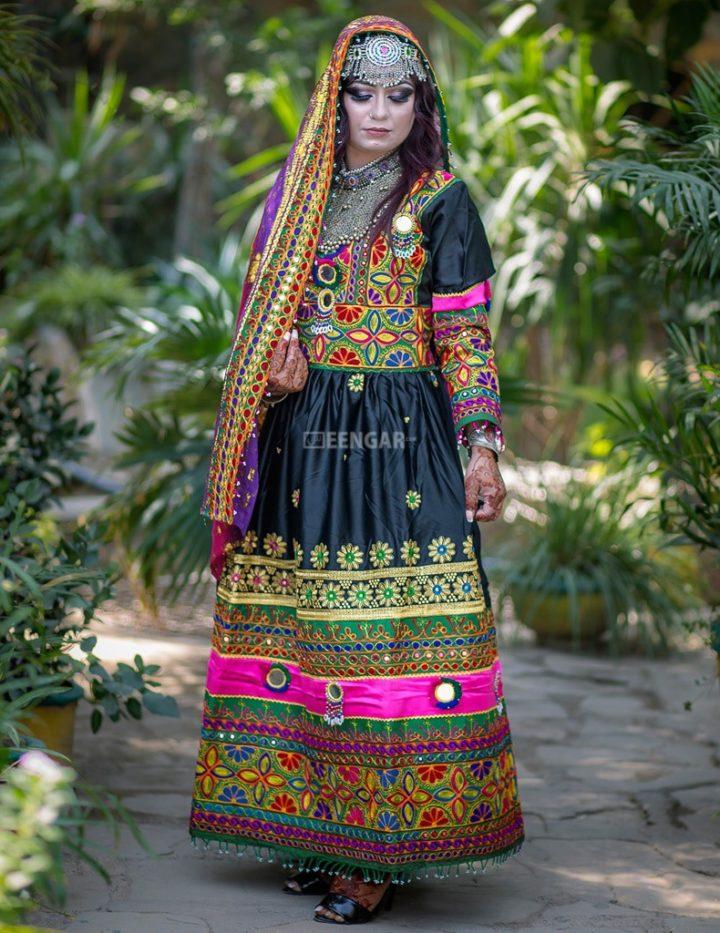 Deep Multi Colored Kuchi Dress 3