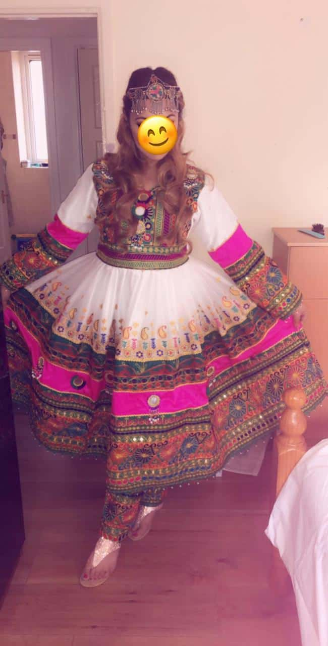 Afghan White Frock