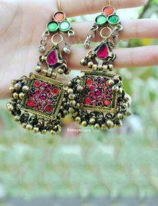 Dazzling Dangling Hanging Jhumki Earrings