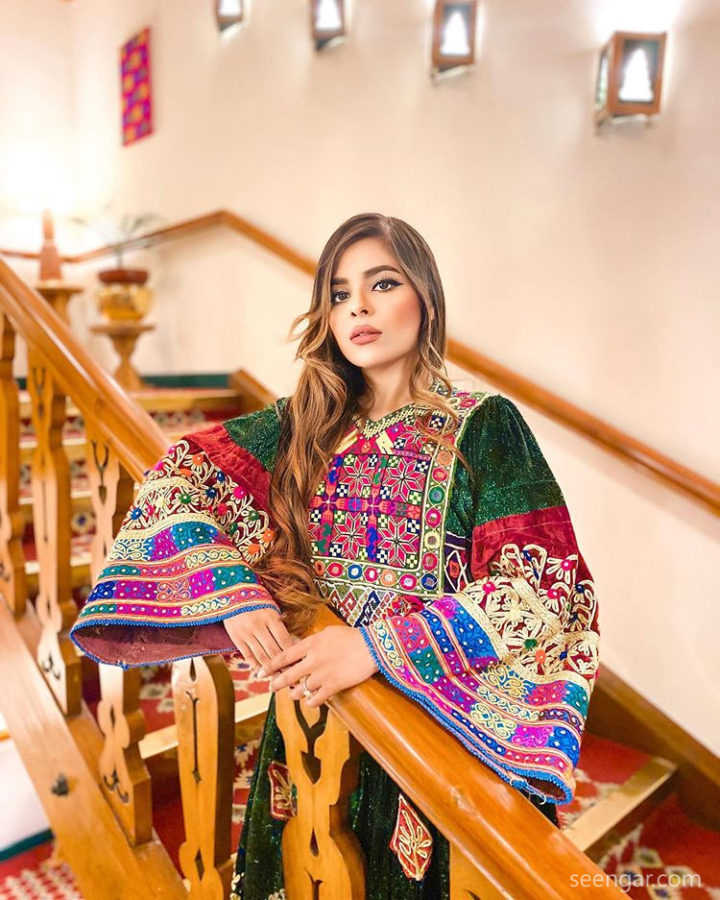 Green Vintage Afghan Clothes New Design