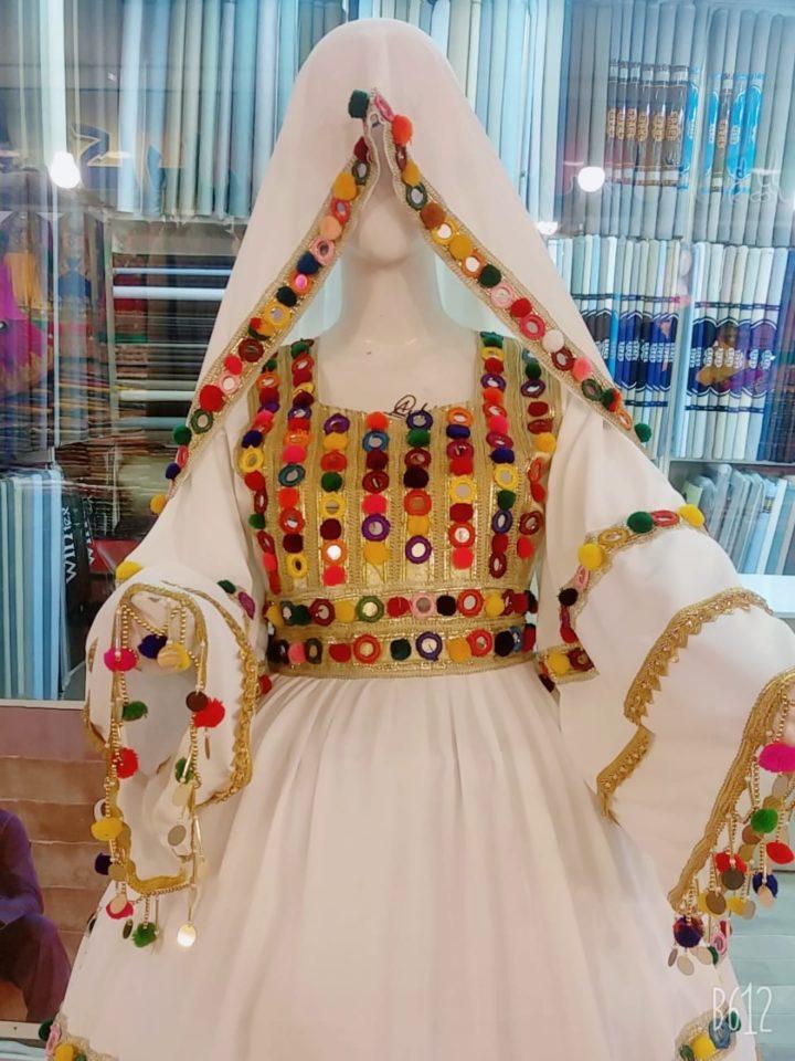 Spring White Afghan Dress (1)