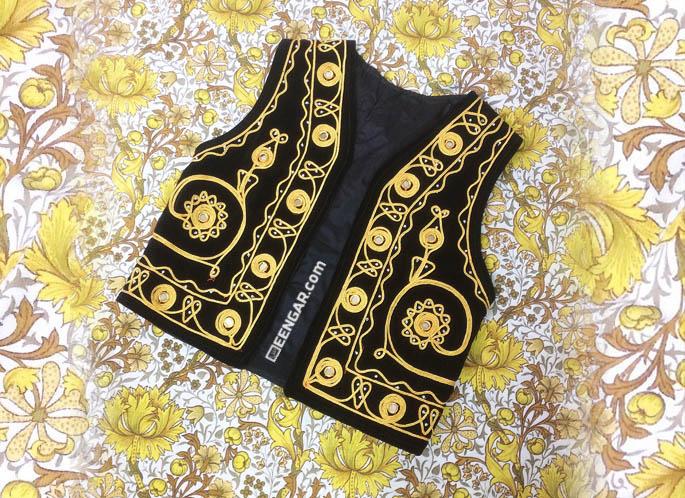 Afghan Waistcoat for Kids Golden