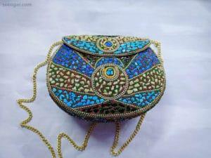 Azure Mosaic clutch