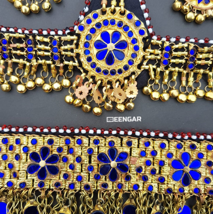 Golden Blue Afghan Jewelry Set 1
