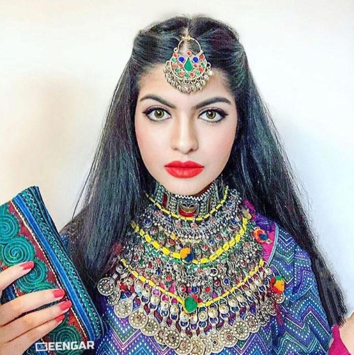 Vintage Rainbow Afghan Necklace