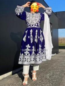 Berry Velvet Afghan Dress