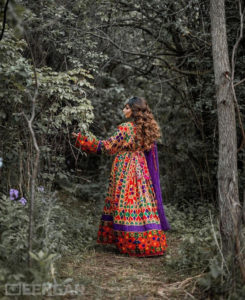 Purple Afghan Dress